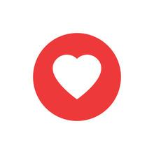 Heart Icon. Red Heart Vector I...