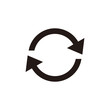 Update icon vector. Reload symbol. refresh icon