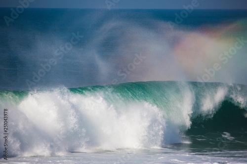 Fotografie, Obraz  Vagues déferlantes sur la plage