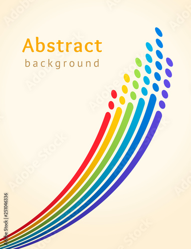 Photo Colored stripes with circles over light background