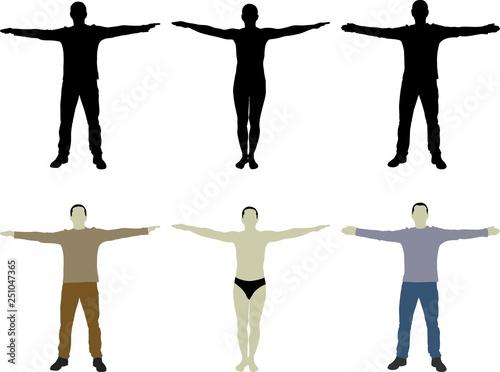 Cuadros en Lienzo silhouette man with open arms