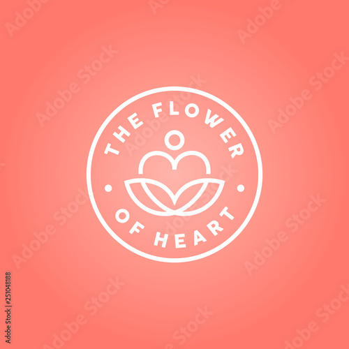 beauty heart love and lotus leaf flower for yoga meditation logo design buy this stock vector and explore similar vectors at adobe stock adobe stock beauty heart love and lotus leaf flower