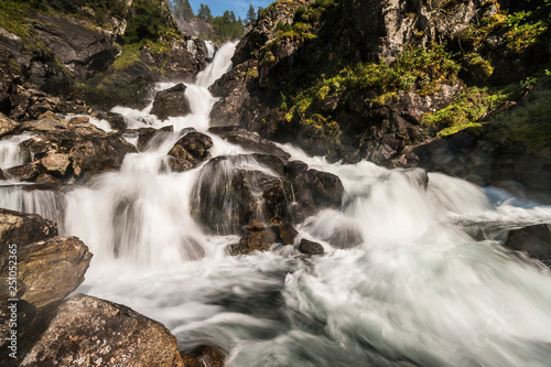 Fotografie, Obraz  Wasserfall in Norwegen