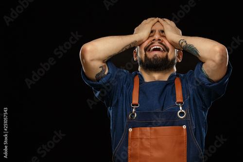 Fotografie, Obraz  Young man expressing emotions.