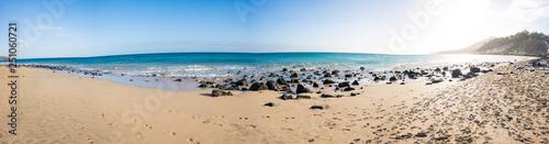 Fotografia  Panorama of the sandy beach on the Canary Islands