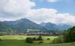 Blick auf den Urlaubsort Oberstdorf