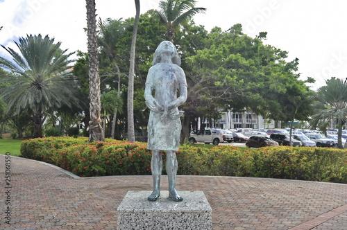 Anne Frank Statue in Aruba Tableau sur Toile