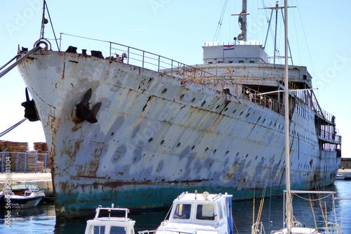 Photo Yacht Galeb of Tito in Rijeke Fiume croatian harbor