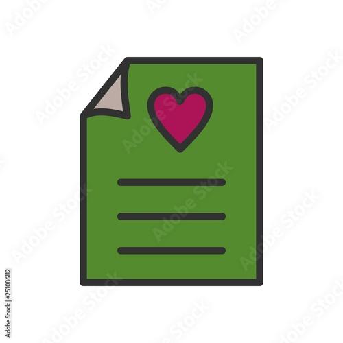 Fotografia, Obraz  Vector Love Letter Icon