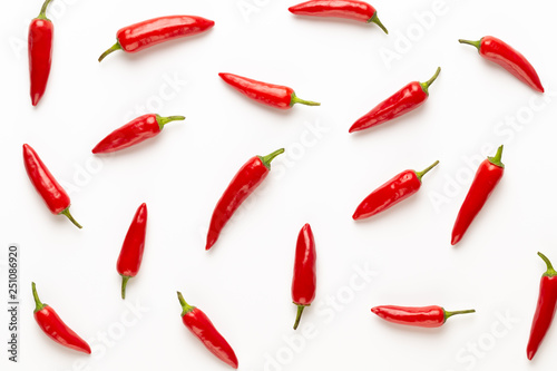 Photo sur Toile Amsterdam Chili or chilli cayenne pepper isolated on white background cutout.