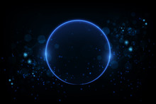 Nice Colorful Glowing Circle  Background For Your Creative Work. Vector Illustration