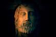 Leinwanddruck Bild - Ancient god Zeus worshipped by both Roman and Greek