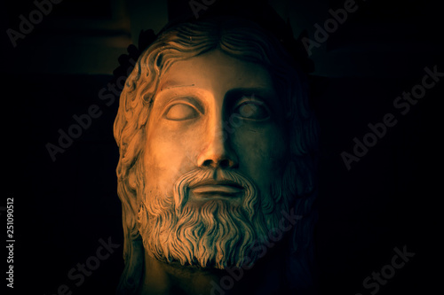 Photo  Ancient god Zeus worshipped by both Roman and Greek