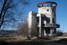 Old Abandoned Gas Station Since Soviet Times