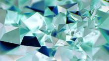Abstract Green Crystal Triangular BG