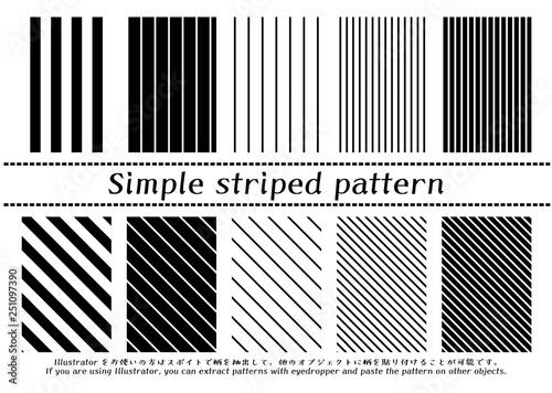 Obraz シンプルストライプのパターン - fototapety do salonu