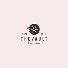 Vault Logo Hipster Vintage Ret...