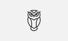 Owl Illustration, Owl Logo Des...