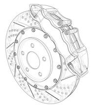 Brake Disc Outline. Vector Ren...