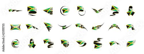 Valokuvatapetti Jamaica flag, vector illustration on a white background