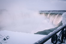 Niagara Falls Winter Evening View
