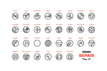 Home Repair And Building Icons...