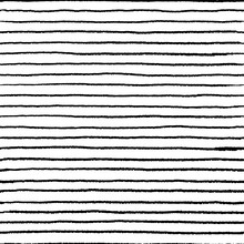 Seamless Stripe Doodle Pattern. Wavy Linear Doodle Water Brush, Hand Drawn Abstract Grunge Elements. Vector Doodle Lines Set