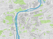 Vector City Map Of Prague With Well Organized Separated Layers.