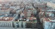 Buildings in Barcelona. Spain. Aerial view by a Drone