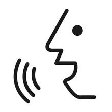 Voice Percon Icon Design. Flat...