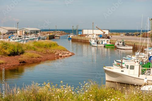 Valokuva Toney River harbor marina near Pictou on the coastline of Nova Scotia, Canada