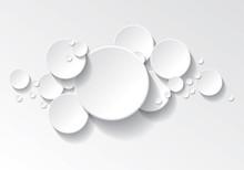 Fond Cercles Blanc