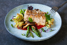 Halibut With Hazelnut Crust Wi...