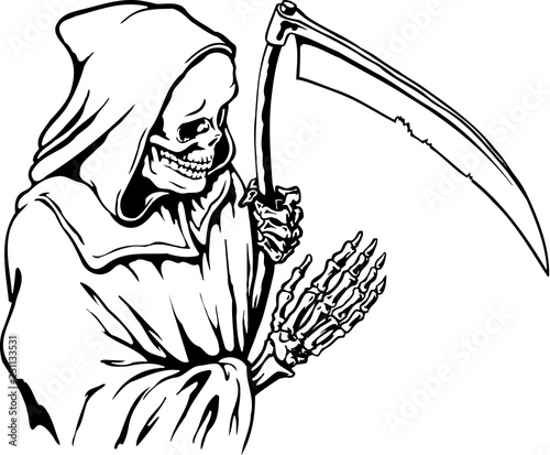 Grim Reaper Vector Illustration Wallpaper Mural
