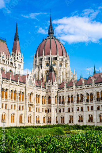 Fotografie, Obraz  Gothic building of Parliament in Budapest, Hungary