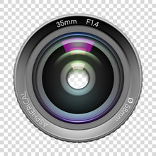 Highly Detailed Video Or Photo Camera Lens