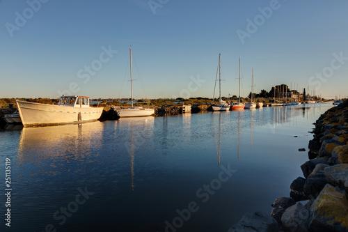 Fotografie, Obraz  Embouchure du canal du midi a la pointe des Onglous - Marseillan en Occitanie -