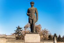 Statue Of Zhang Xueliang, Located In Marshal Zhang's Mansion, Shenyang, Liaoning, China.