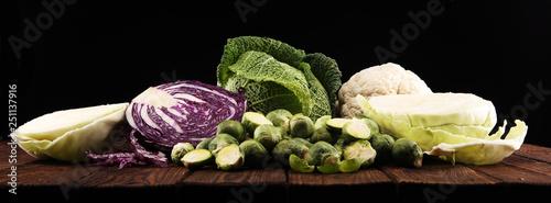 organic cabbage heads Fototapete