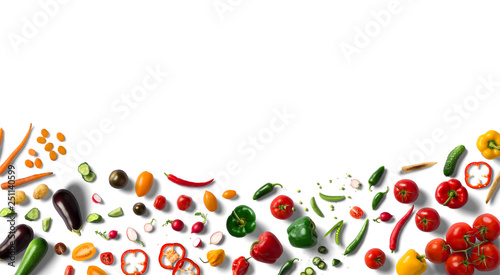 Cadres-photo bureau Cuisine Vegetables, colored vegetables, shaped peppers