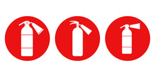 FIRE EXTINGUISHER. Icon Set. V...
