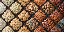 Assorted Nuts Background, Larg...