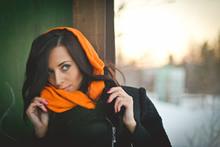 Fashion Portrait Of Young Muslim Wearing Hijab