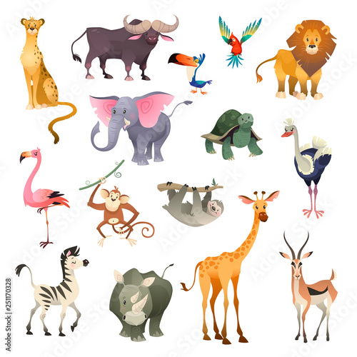 Jungle wild animals Wallpaper Mural