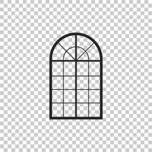 Arched Window Icon Isolated On...