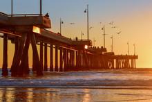 Sunset Over Venice Beach Pier ...