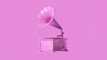 Pink Vintage Gramophone 3d Illustration 3d Render