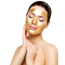 Woman Gold Mask, Beautiful Mod...