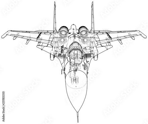 Surprising Fighter Jet Vector Wireframe Concept Created Illustration Of 3D Wiring 101 Photwellnesstrialsorg