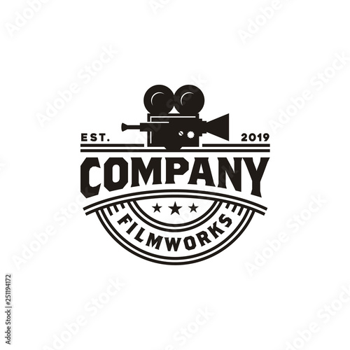 Fotografía Vintage Video Camera Logo design for movie / cinema production